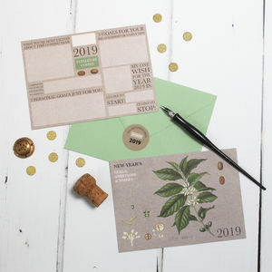 New Year's Goals And Wishes Pack: Coffee - new year cards
