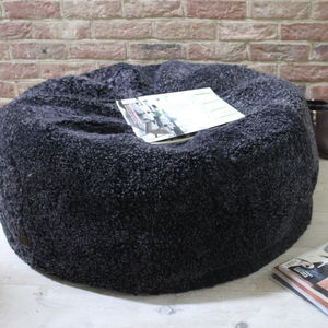 Curly Sheepskin Bean Bag - living room