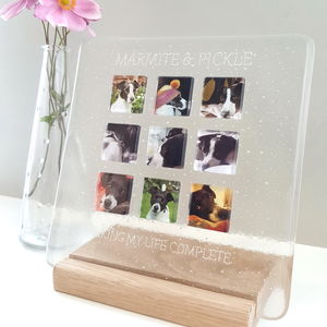 Personalised Pet Glass Photograph Display Frame - home accessories