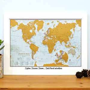 Personalised Scratch The World® Travel Edition Map - prints & art sale