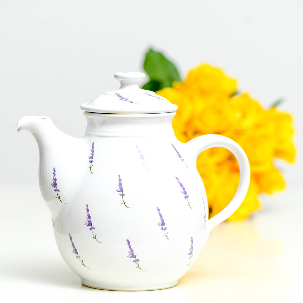 handmade ceramic lavender teapot by terry pottery ...