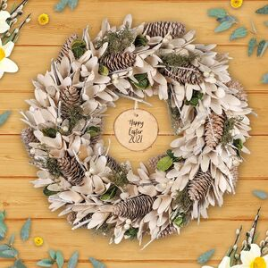 Spring Botanicals Personalised Door Wreath