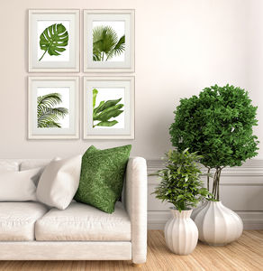 Tropical Leaves, Set Of Four Prints - canvas prints & art