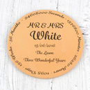 Wedding Venue Third Anniversary Coaster