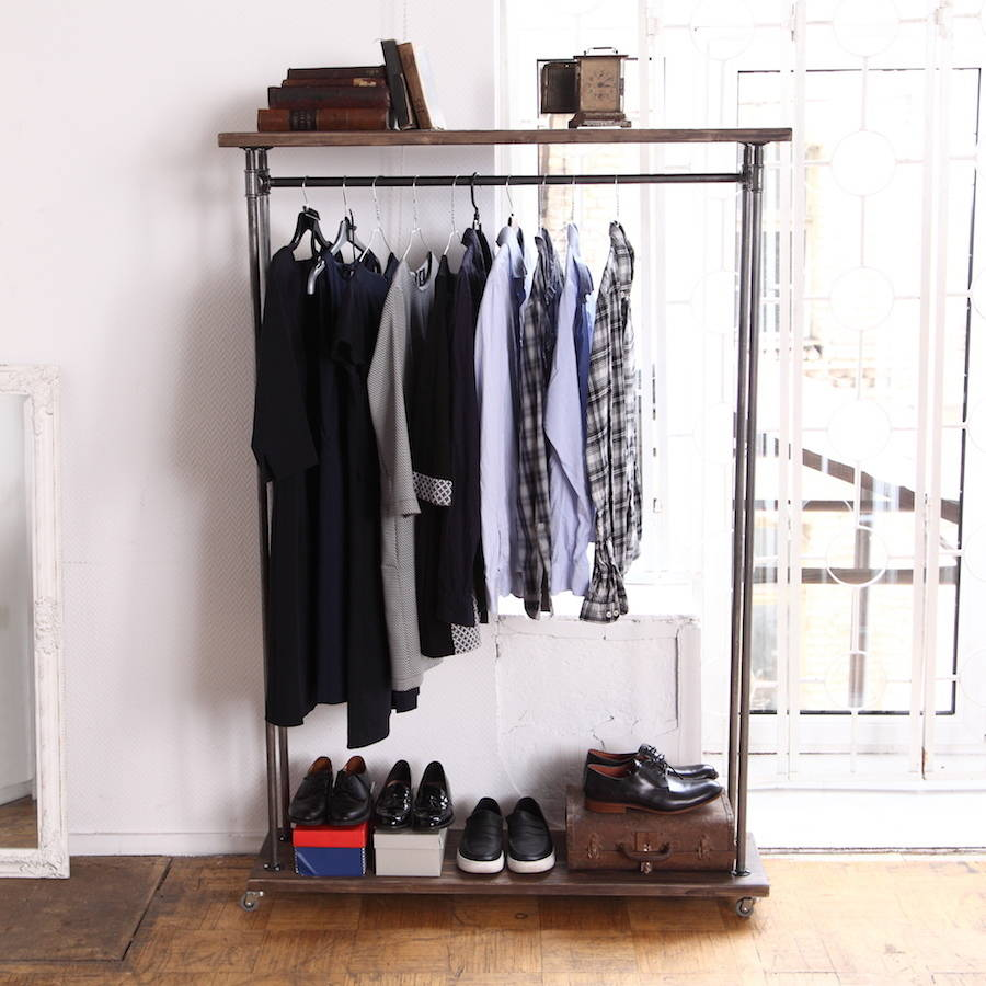 Industrial Style Clothes Rail By Cosywood