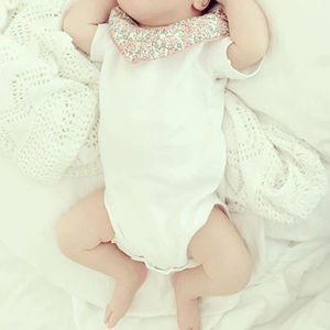Baby Bodysuit Frill Collar Floral Print