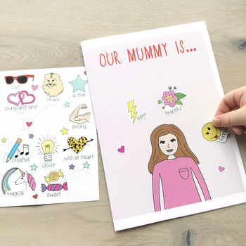 Mother's Day Personalised Stickers Card