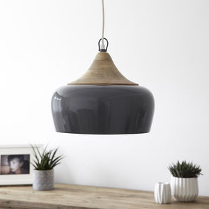 Casablanca Pendant Light Storm Grey - bedroom