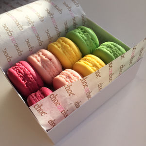 Macaroon Shaped Chocolates - wedding favours