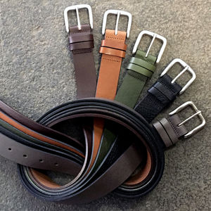 Handmade Leather Casual Thisleton Belt - lust list for him