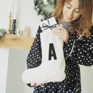 Personalised Alphabet Christmas Stocking