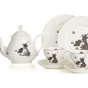 UK And Ireland Map – Complete Tea Set