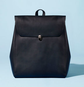 Minimalist Genuine Grain Leather Backpack Personalised - valentines lust list