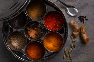 Indian Spice Tin With Nine Indian Spices