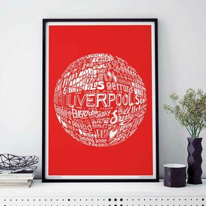 Liverpool Football Club Typography Print