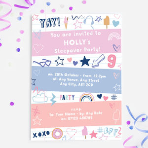 Doodle Birthday Party Invitations