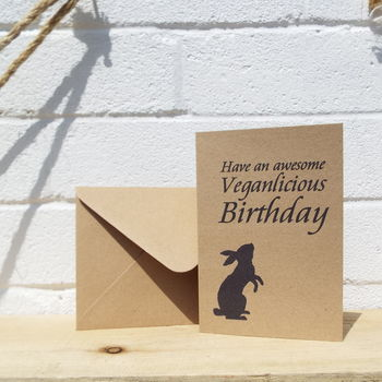 'Veganlicious Birthday' UK Made Birthday Card