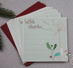 Thank You Christmas Card Pack Eight - cards & wrap