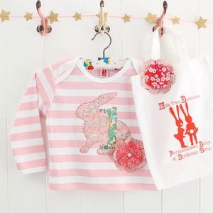 Bunny 1st Birthday T Shirt And Bag