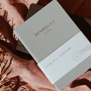 Ponderlily Warm Grey Undated Planner - gifts for her