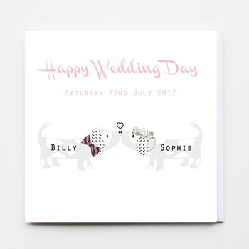 Doggy Happy Wedding Day Greeting Card