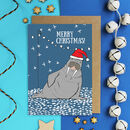 Walrus Christmas Card