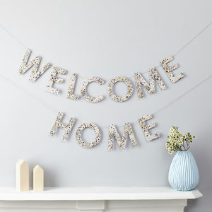 Welcome Home Garland Liberty Fabric And Card