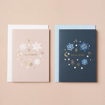 Let It Snow Christmas Card Pack