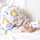 Personalised Rainbow Organic Leggings