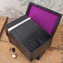 Purple Lined Mens Wooden Watch Box