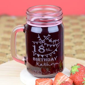 18th Birthday Personalised Kilner Jar - drink & barware