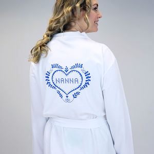 Personalised Folk Art Dressing Gown - lingerie & nightwear