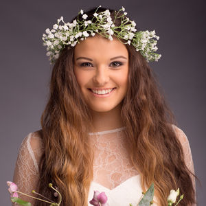 Harriet Gypsophila Headband - wedding fashion