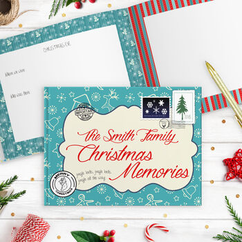 Personalised Christmas Memories Book