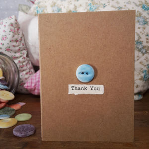 'Thank You' Porcelain Button Card - shop by category