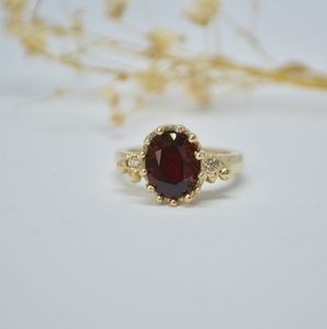 Garnet And Diamond Ring - engagement rings