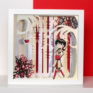 Framed Snow White Fairytale Papercut Art