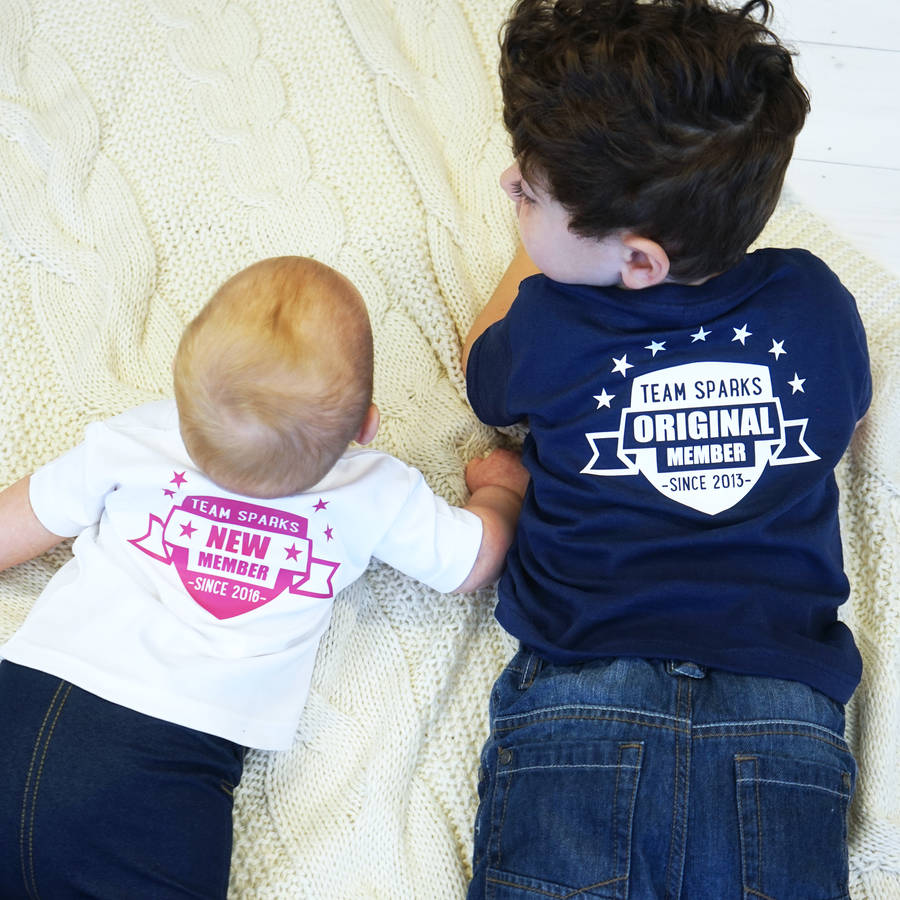 Personalised Our Team Children's Tshirt Set