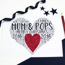 Personalised Couple Christmas Heart Card