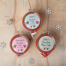 Trio Of Personalised Festive Mini Mug Cake Jars