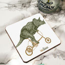 Trikeceratops Bicycle Drinks Coaster