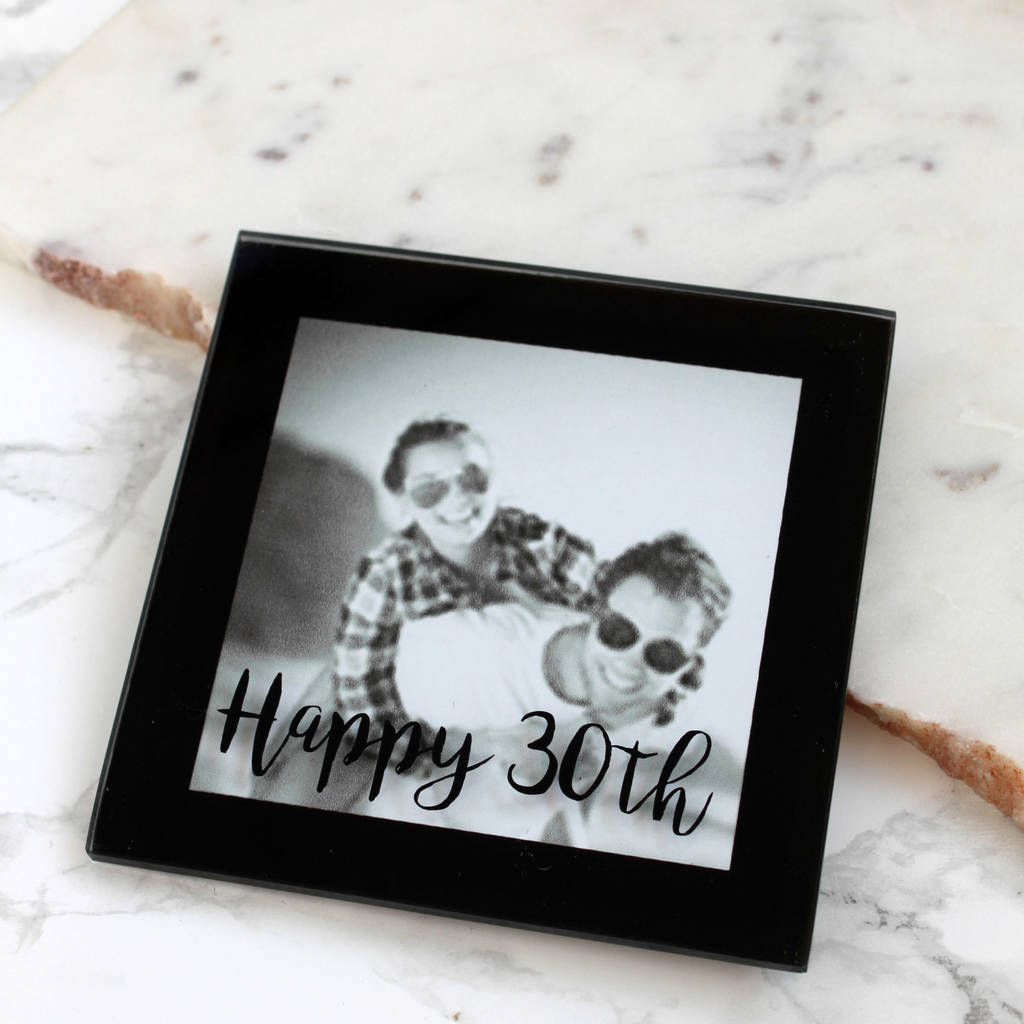 Personalised Birthday Mini Photo Coaster