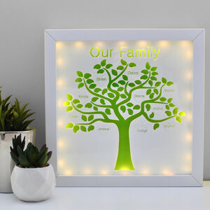 'Our Family' Personalised Family Tree Picture Light