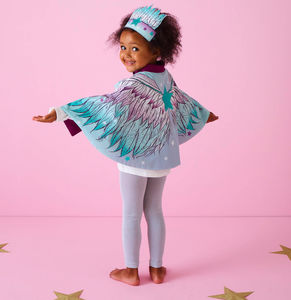 Personalised Angel Wings Cape And Crown Set