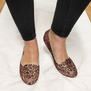 Royal Ballet Juliet Sequin Foldable Shoes