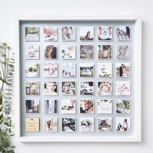 Personalised Framed Wedding Photo Print - dates & special occasions