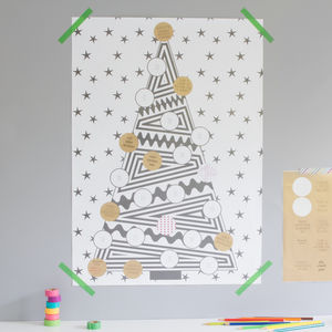 Monochrome Advent Activity Poster - baby & child sale