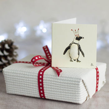 Christmas Penguin Gift Tags, Pack Of Four