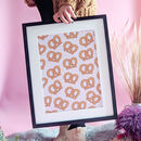 Twisted Pretzel Patterned Art Print