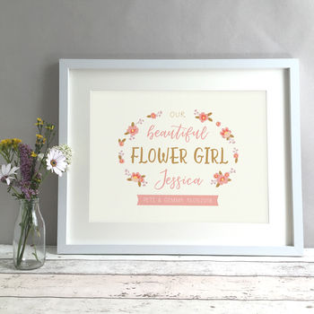 Flower Girl Keepsake Thank You Gift Print